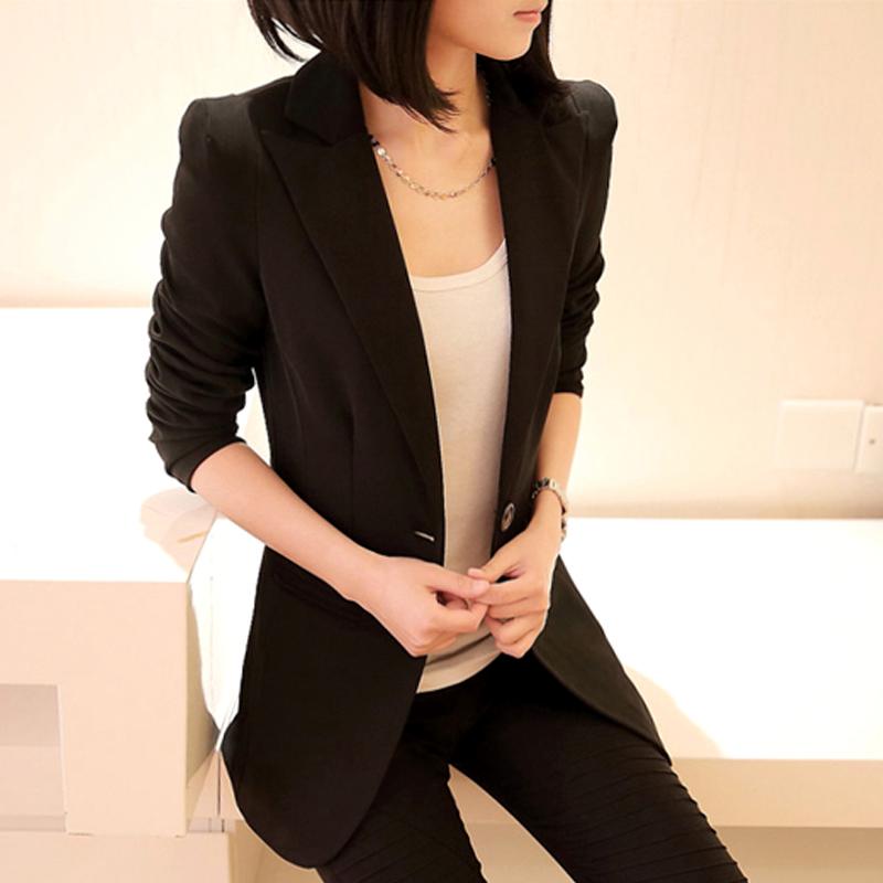 Маленький костюм женский пальто с длинным рукавом бум весной 2016 подпружиненный новое в корейской версии тонкий длинный случайный костюм