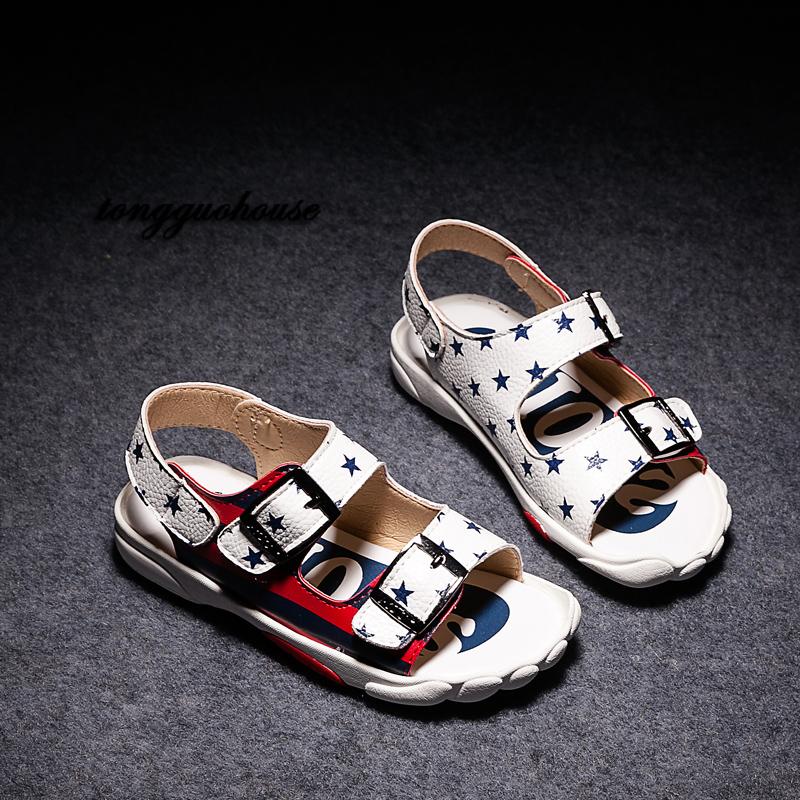 Обувь для детей в летний период 2016, новый досуг мальчики мальчиков Босоножки Босоножки детей студент сандалии бум