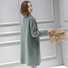 Fall and winter wool double-sided wool coat, wool and wool coat, medium and long double-sided wool and cashmere Korean version large size