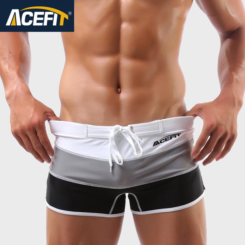 一件包郵ACEFIT原創男士 漸變泳褲男式遊泳衣溫泉泳褲 3色