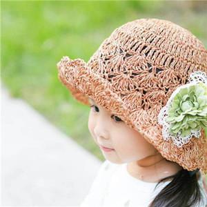 16朵朵小铺手工盆帽夏男女童沙滩韩国遮阳儿童亲子草帽