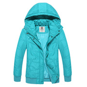 Recreational riding clothes cotton dress to keep warm in winter padded coat thin, windproof cotton-padded clothes simple fashion solid color
