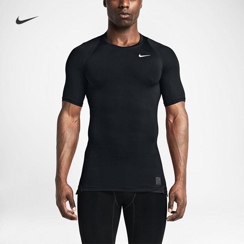 Nike nike официальный NIKE PRO человек короткий рукав обучение плотно одежда 703095