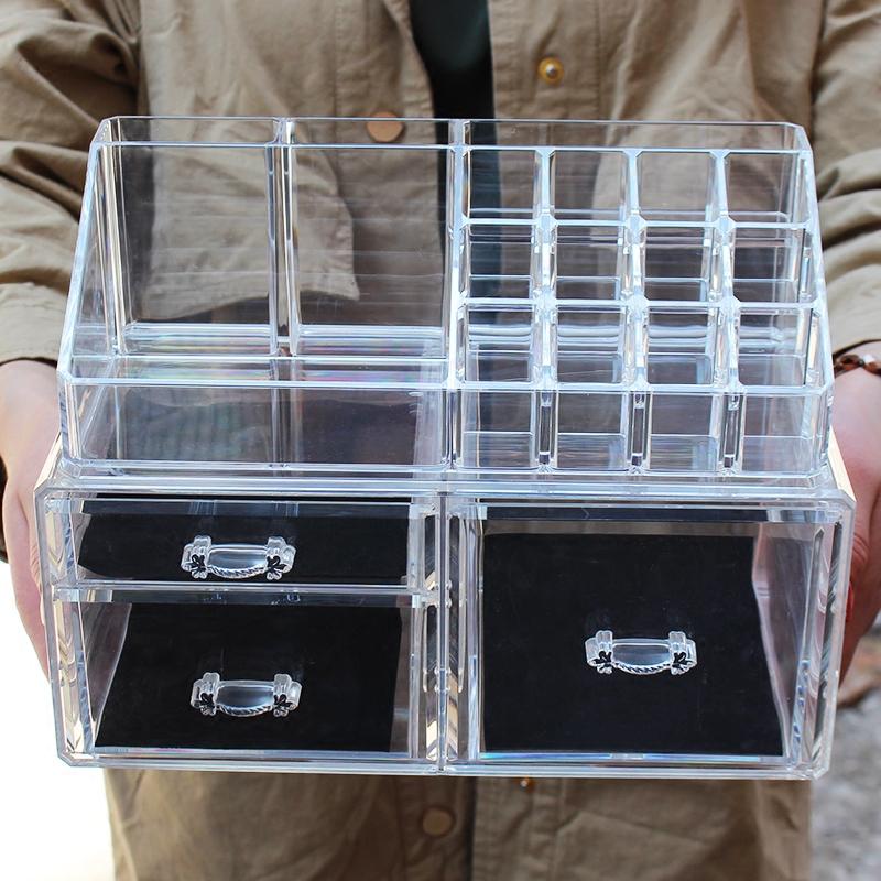 Большой прозрачный акрил составить статья в коробку рабочий стол составить коробка комод губная помада полка разбираться коробка ювелирные изделия