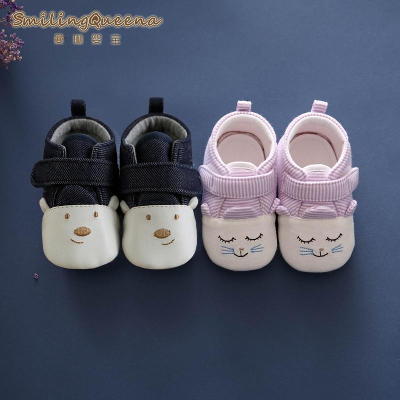 0-6-12 месяцы 3 новорожденный младенец ребенок обувь мягкое дно скольжение 1 лет мужчина весенний и осенний сезон. девушка малыш обувь лето