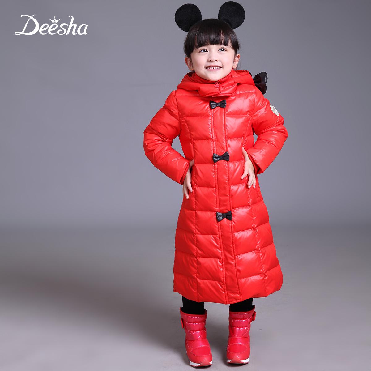 Флейта Салли долго вниз куртка зимы вниз куртка для девочек в длинные толстые Шамбалы дети долго вниз куртки женщин