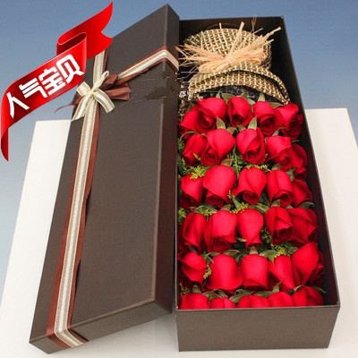 Binzhou flowers city express Valentines Day boxing Zhanhua Huimin Yangxin Wudi red rose gift box Korean bouquet