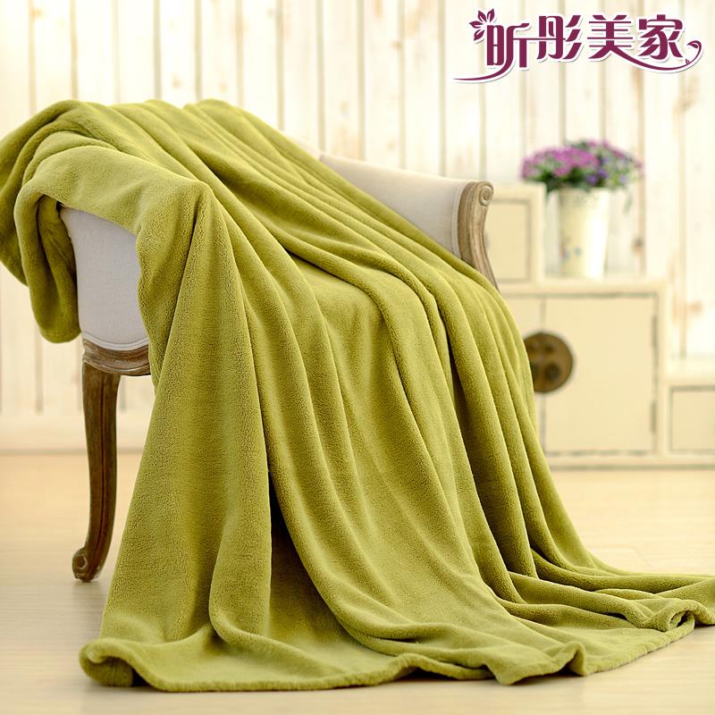 Xin Тонг зима НПД коралловые флис сплошной цвет одеяла одеяла постельное белье полотенце одеяло одеяло Специальный фланелевая