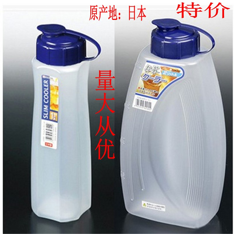 日本进口孝素桶冷水壶瓶鲜榨果汁饮料保鲜杯耐热塑料开水壶可冷藏