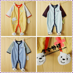 Over a hundred original single Carter Carter s autumn and winter male baby velvet leotard Romper foot
