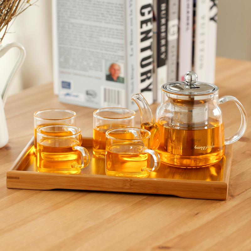 玻璃茶具套裝 整套紅茶花草茶泡茶壺過濾功夫茶杯茶盤區域包郵