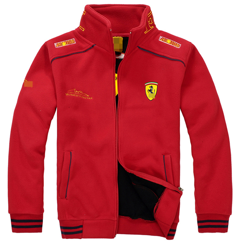 Men S Clothing Spring And Autumn When The Ferrari Racing