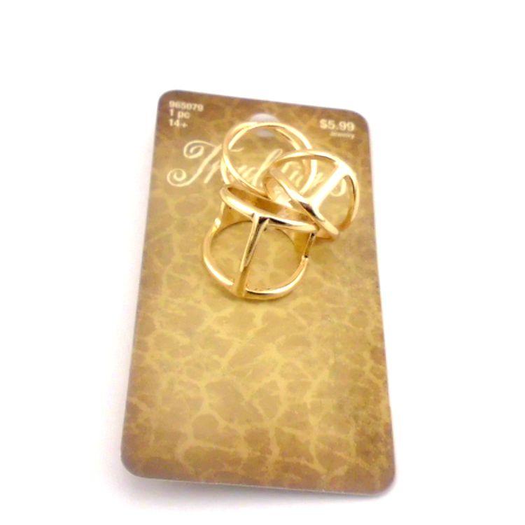14欧美外贸原单饰品批发 简洁时尚镂空三件套装戒指指环