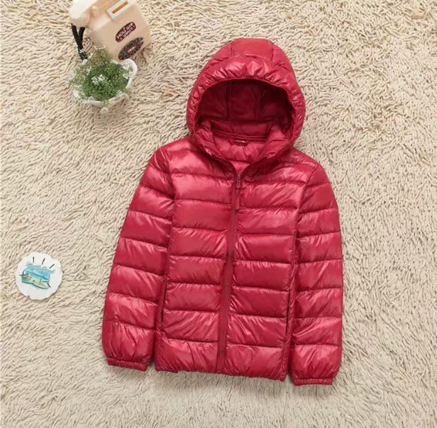 Новых детей с коротких вниз куртка облегченная мужчин и женщин одежда на осень/зима Baby конфеты цветные воротник пальто