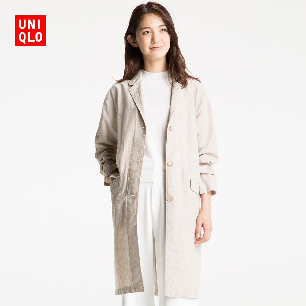 女裝 麻棉大衣 192313 優衣庫UNIQLO