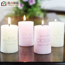 Ying dot aromatherapy candle romantic candlelight dinner cylindrical thick candle decoration hotel smokeless candlestick Candles