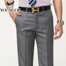 The new 2015 straight men's trousers Middle-aged men leisure wash and wear no discount men's trousers pants pants in the summer of thin model