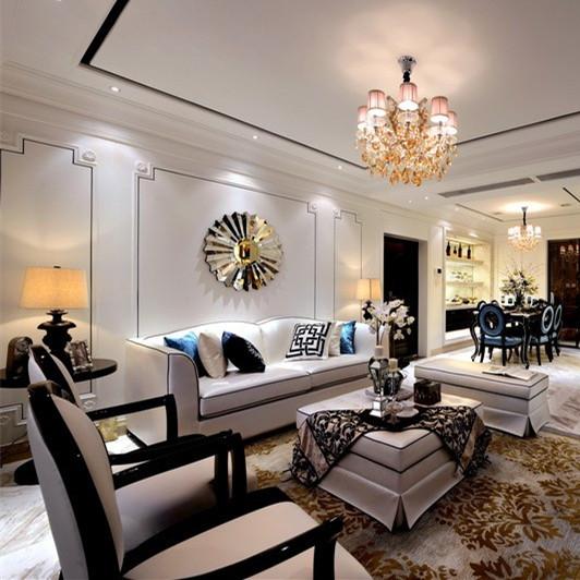 新古典沙发 后现代沙发 简约欧式沙发 低调奢华家具印花面料实木