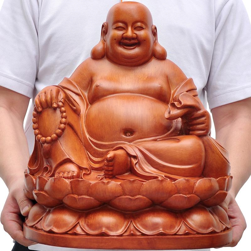 彌勒佛擺件佛像佛頭家居裝飾品客廳辦公室擺設開業喬遷 工藝品