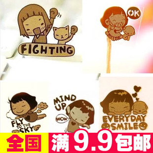 Korean version of the cartoon 24K gold plated mobile phone radiation stickers Computer stickers Sticker variety of wholesale