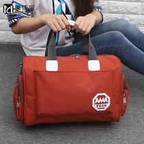 韩版大容量旅行袋女短途旅行包手提包可爱卡通学生轻便衣物收纳袋