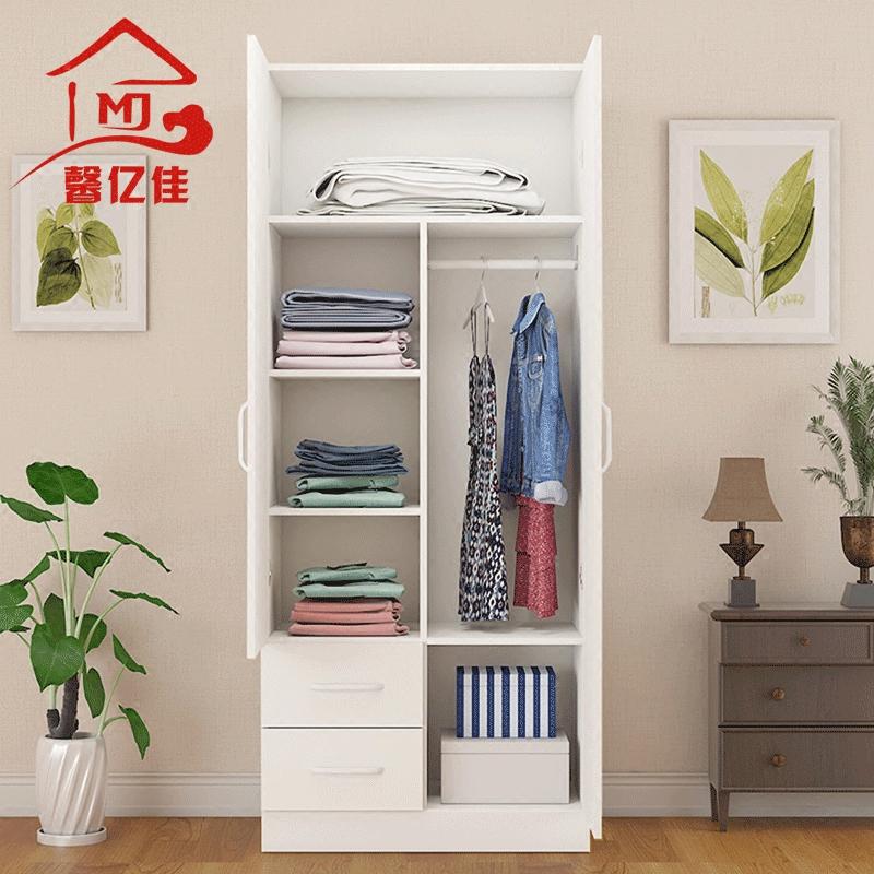 Современный легко ребенок гардероб дерево спальня сборка деревянный небольшой гардероб 2 ворота сочетание балкон хранение кабинет специальное предложение