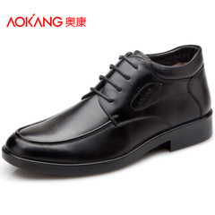 Aucom men shoes new business dress shoes really Lint cotton shoes, high fashion, warm wild shoes