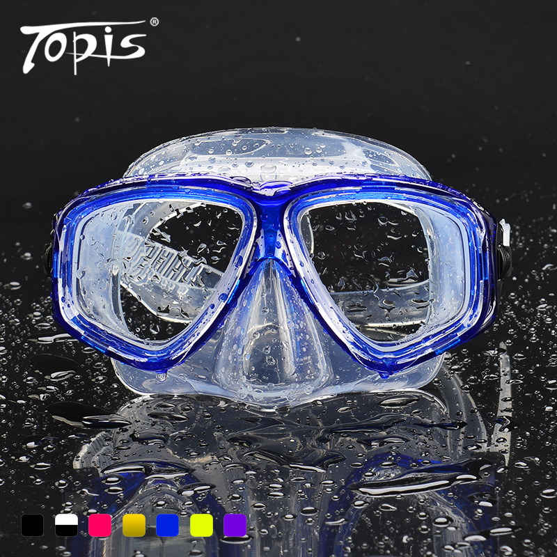 正品TOPIS男女全幹式潛水鏡防霧麵鏡浮潛三寶之一遊泳鏡可配近視