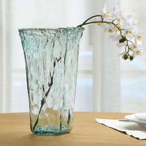 柏斐家饰/西班牙进口/手工环保/玻璃花瓶/潘多拉系列/方形瓶摆件