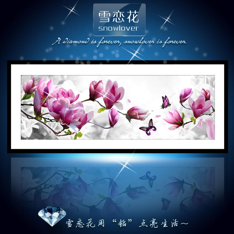 Любви снег цветы, которую 5 d рисовать алмаз вышитые DIY кристалл алмаз круглый бриллиант бабочка крест стежка игры Магнолия номер большие картины