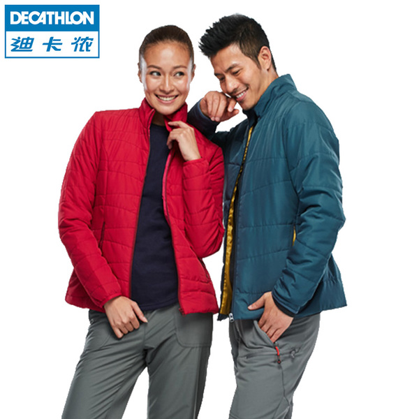 Decathlon outdoor climbing male and female couple light and warm padding jacket QUECHUA N
