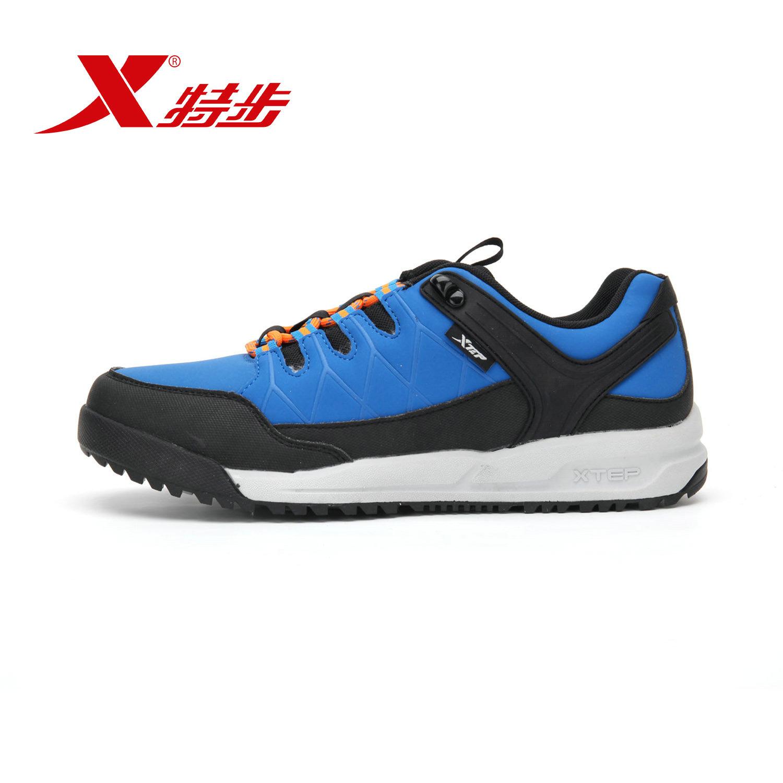 特步戶外正品徒步鞋男專櫃同款 旅遊鞋防滑耐磨 登山鞋
