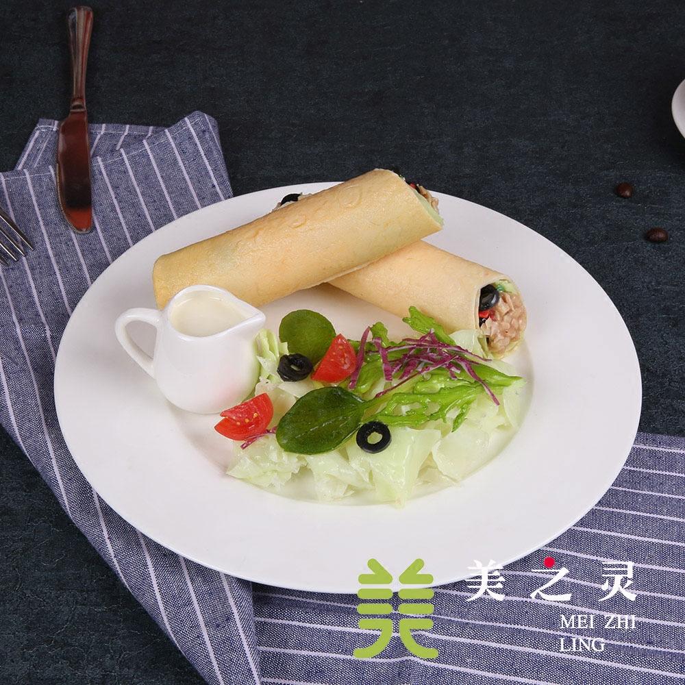 漫咖啡食品模型定做 金枪鱼黑橄榄卷模型 装饰仿真食物菜假菜道具