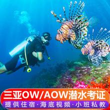 三亚潜水证考证培训ow/aow/dsd持证fd潜水自由潜水下摄影海南padi