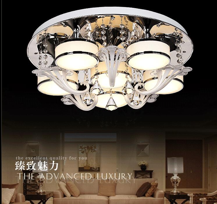 2019年新款LED客厅灯吸顶灯水晶灯具卧室灯大气现代简约吊顶大灯12-02新券