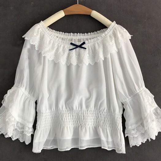 现货:小仙 日系短袖上衣内搭衬衫甜美可爱软妹lolita洛丽塔