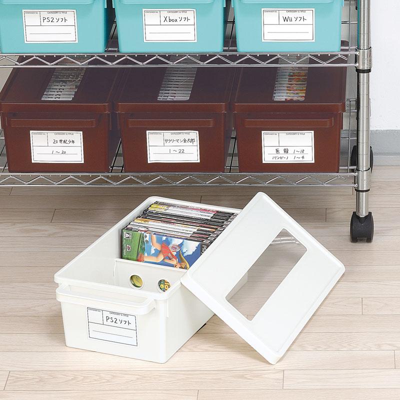 日本进口家用CD盒专辑收纳箱PS4游戏光盘存放盒大容量DVD碟片盒子