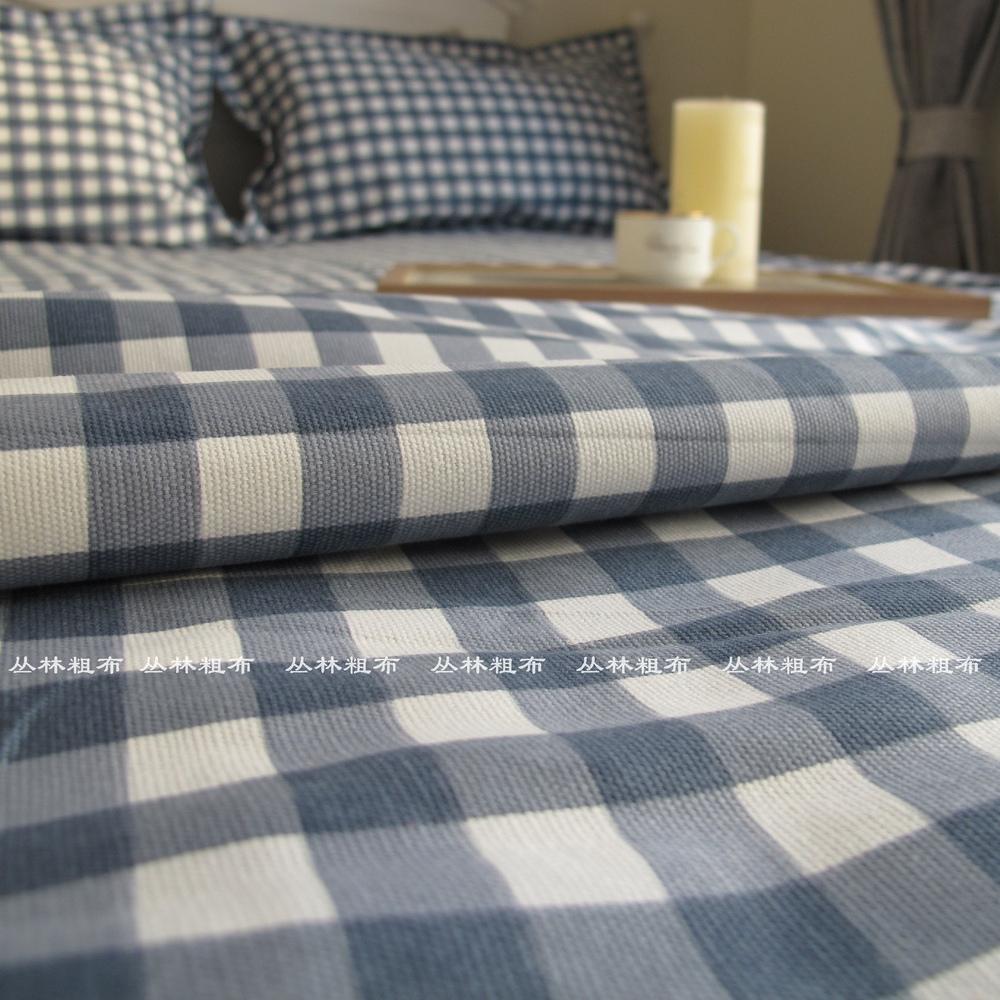 地中海包邮加厚全棉印花老粗布床单单件纯棉小帆布宿舍单人双床单