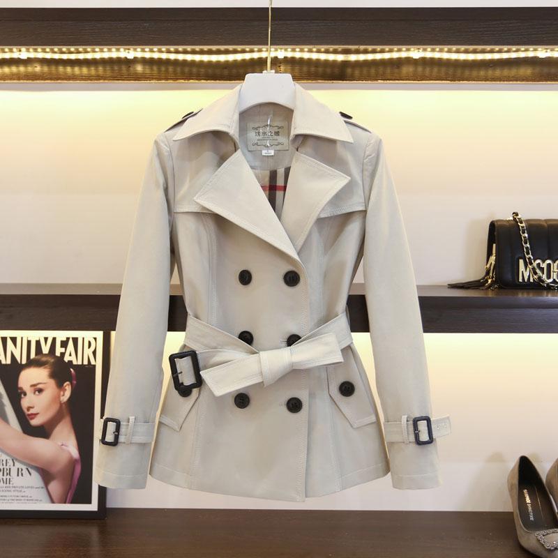 精品风衣女中长款矮小个子英伦风秋冬气质外套女式中短款高端大气
