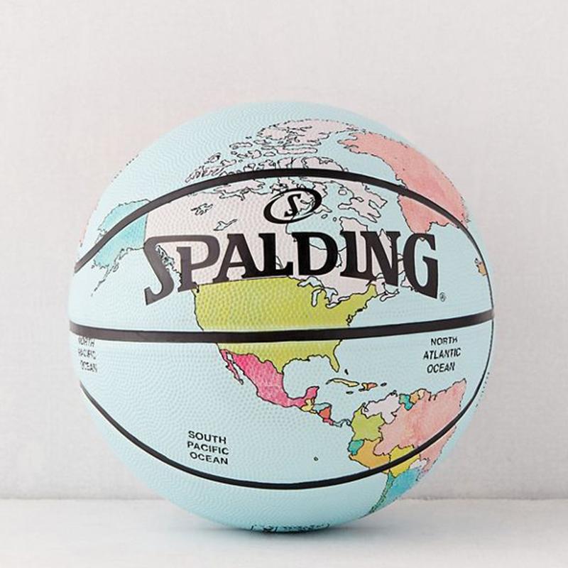 美国代购 斯伯丁X UO联名 男人篮球礼物SPALDING地图迷彩小花