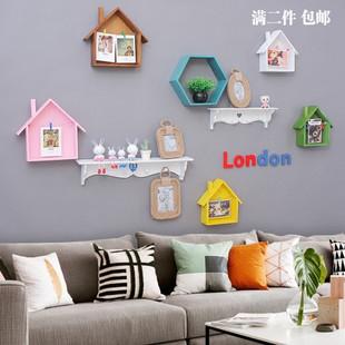 简约照片墙装饰客厅相框墙创意小房子相框架子挂墙卧室组合相片墙