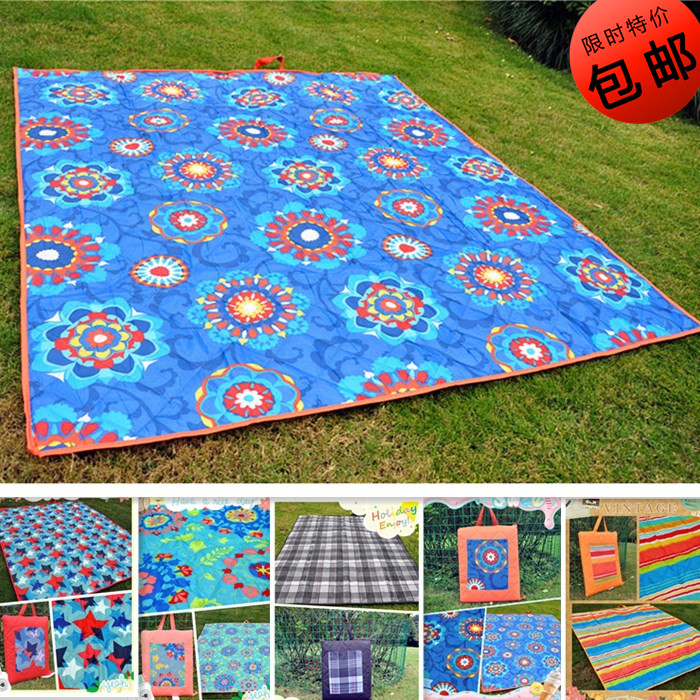 Ultrasonic machine washable, exported to USA, portable thickened outdoor picnic damp proof mat, tent baby crawling mat
