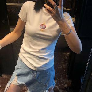 JLNUONUO小飞象紧身短袖T恤女2020修身显瘦chic潮卡通上衣ins韩范