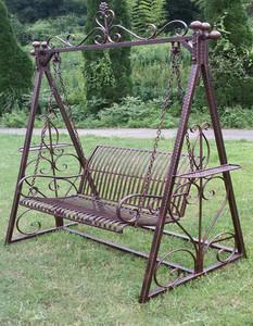 户外秋千椅阳台庭院摇椅公园铁艺吊椅藤椅室内门口家用双人吊篮