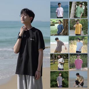 禾子先生男女同款短袖T恤韓版寬鬆字母印花港味百搭潮牌夏季上衣