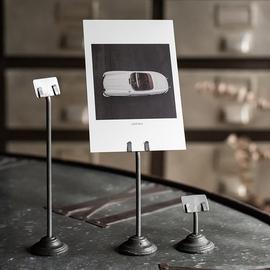 日本PUEBCO复古铁艺卡片夹照片夹铸铁台卡夹便条夹子桌面装饰摆件图片