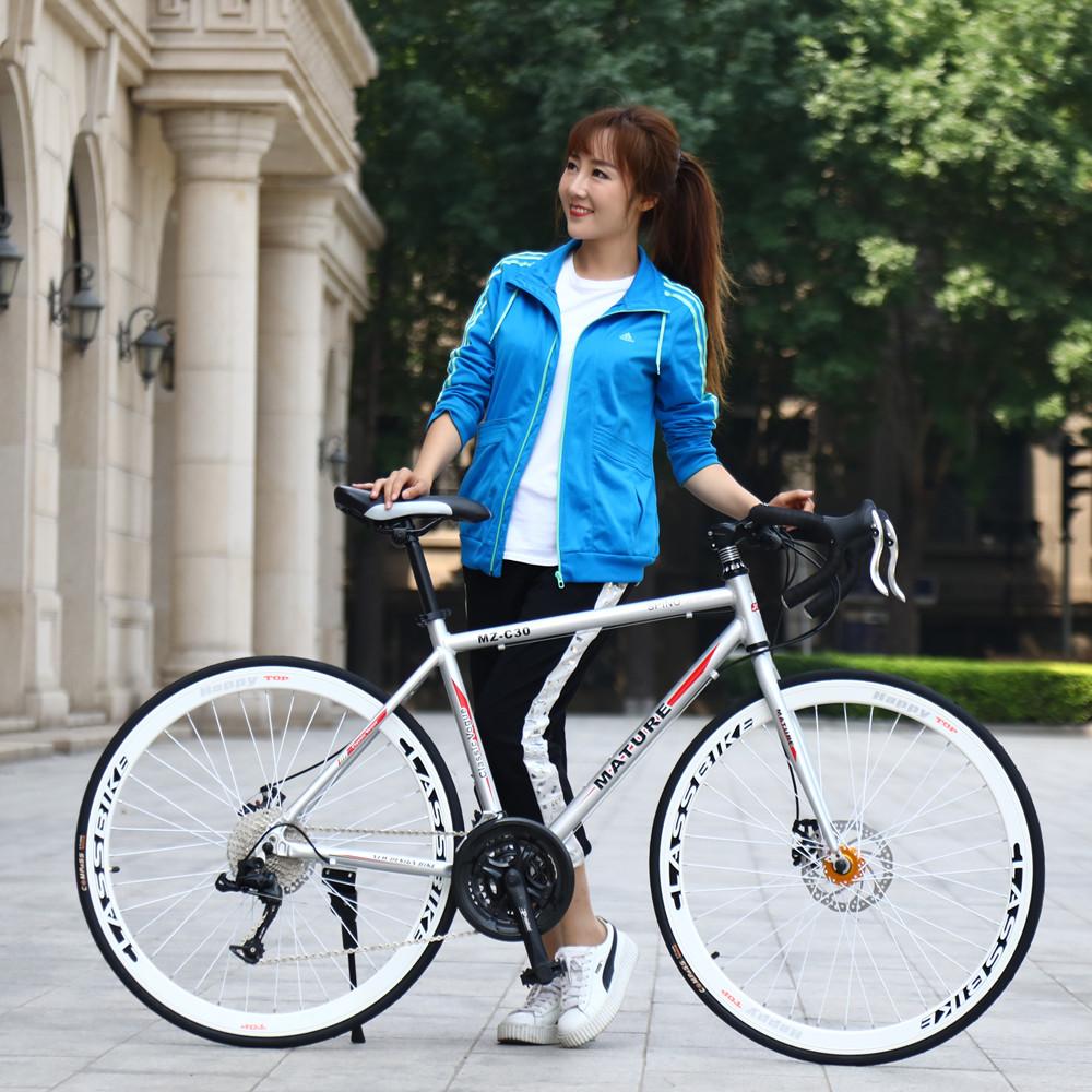 変速道路の車の単独の車の双曲刹の700 c男女の車の学生の自転車は曲がってモーターの27寸の30速のスポーツカーを使います。