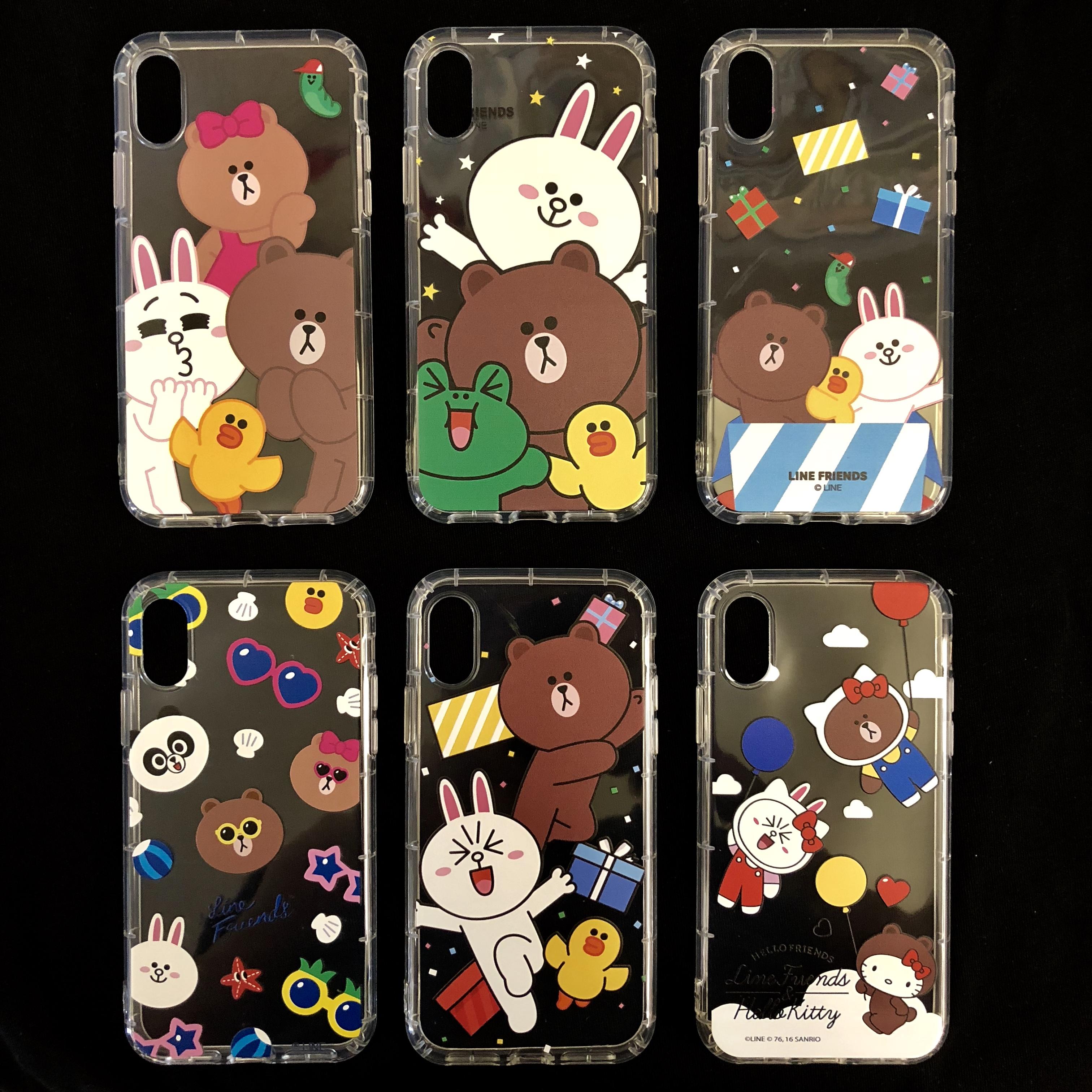 韩国line friends布朗熊kitty9.9包邮i7卡通i8可爱iphone手机壳ix