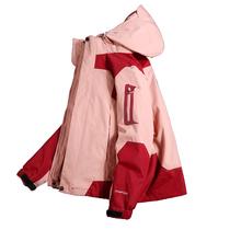 冲锋衣女潮牌韩国三合一可拆卸加绒加厚防水防风登山滑雪服外套女