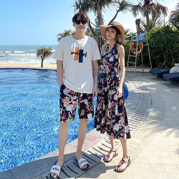 TS54689#新款沙滩度假风情侣装